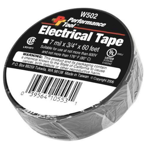 Performance Tools W502 PVC Electrical Tape - 3/4in. x 60ft.