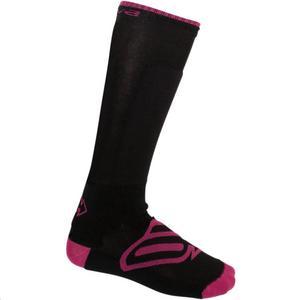 Arctiva Insulator Womens Socks Black/Pink (Black, Large - X-Large)