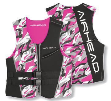 Kwik Tek Airhead Camo Cool Ladies Neolite Ski Vest Pink Camo (X-Large)