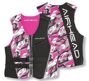 Kwik Tek Airhead Camo Cool Ladies Neolite Ski Vest Pink Camo (Large)