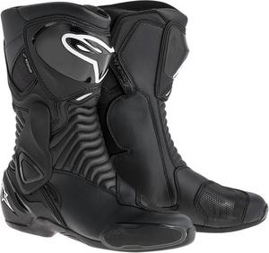 Alpinestars S-MX 6 Waterproof Street Riding Motorcycle Boots Black Mens Size 4