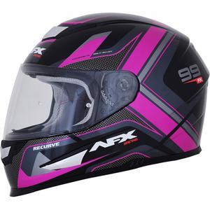 AFX FX-99 Graphics Womens Helmet Black/Fuchsia (Black, X-Small)