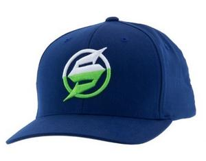 Slednecks 2016 Adult Half Jack Curved Bill Flex Fit Hat Blue S/M