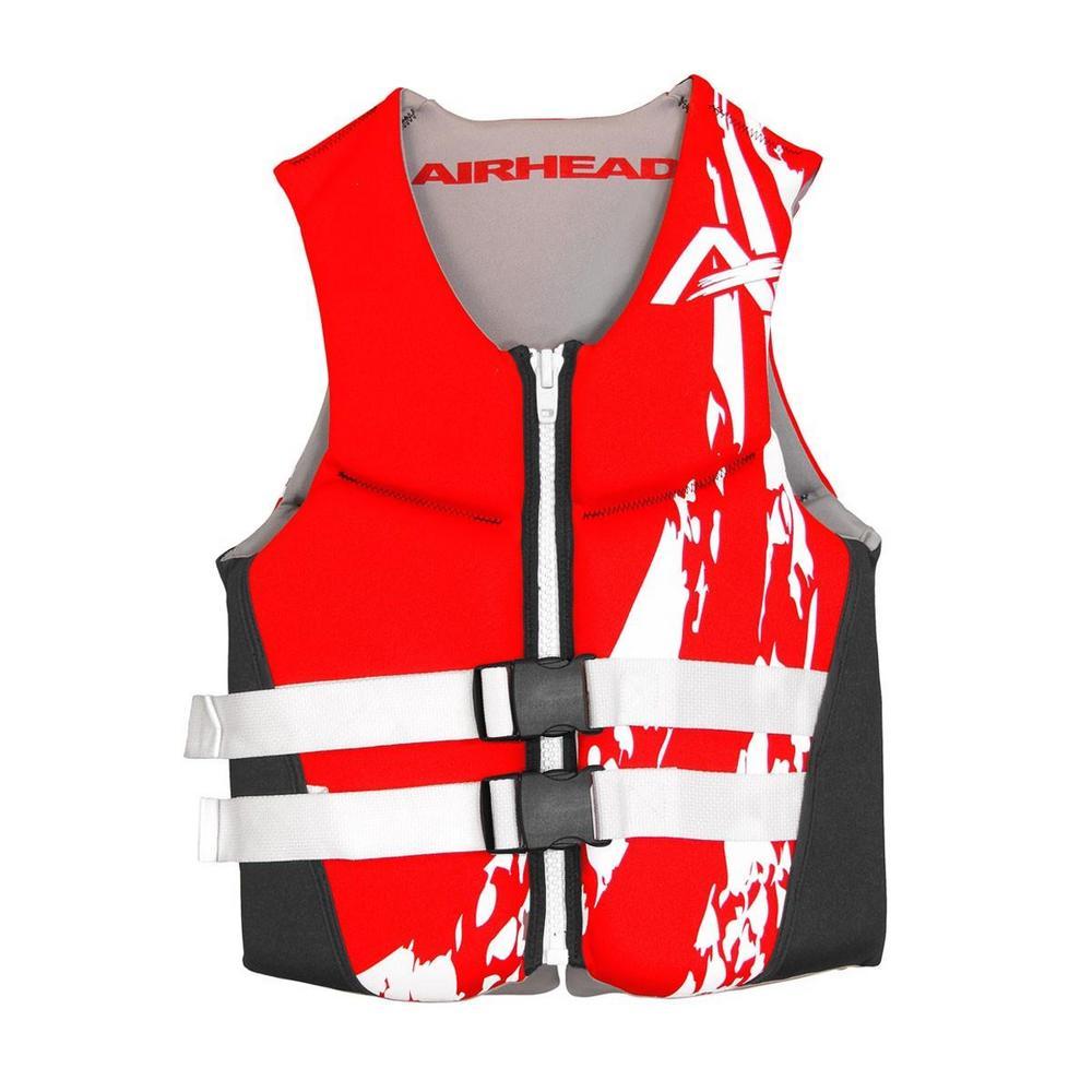 Kwik Tek Swoosh Neolite Kwik-Dry Life Vest (Red, Large)