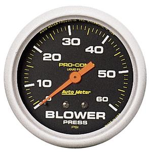 AutoMeter 5402 Pro-Comp Liquid-Filled Mechanical Blower Pressure Gauge