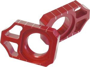 Works Connection Anodized Axle Blocks (Red) 17-035