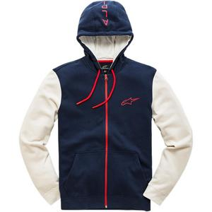 Alpinestars Mach 1 Fleece Zip-Front Hoody Navy (Blue, XX-Large)