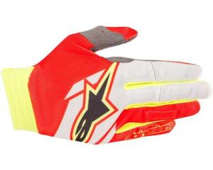Alpinestars Aviator Gloves Red/White/Yellow Fluo (Red, X-Large)