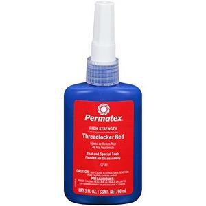 High Strength Threadlocker, Red, 90 ml. bottle (27183)