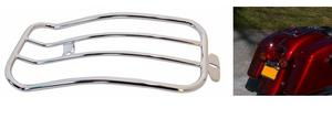 """Motherwell 7"""" Chrome Solo Luggage Rack For Harley Davidson MWL-530"""