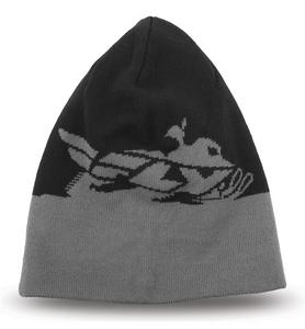 Fly Racing Adult Beanie Hat Snowmobile Black/Grey