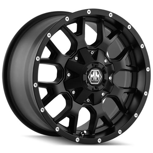 "4-Mayhem 8015 Warrior 20x9 6x135/6x5.5"" +0mm Matte Black Wheels Rims 20"" Inch"