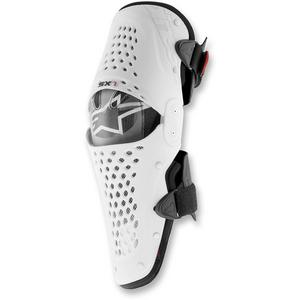 Alpinestars SX-1 Knee Guard Black/White (White, XX-Large)