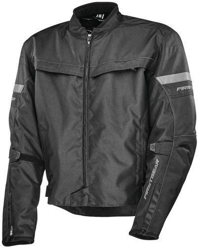Firstgear Rush Jacket (Black, XXX-Large)