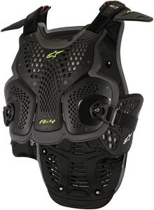 Alpinestars Adult Motorcycle A4 Chest Protector Black M/L