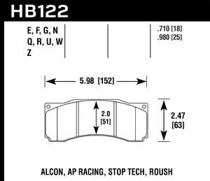 Hawk Performance HB122U.710 Disc Brake Pad Fits 07 Mustang