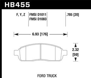 Hawk Performance HB455F.785 Disc Brake Pad Fits 04-08 F-150 Mark LT