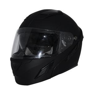 Zox Brigade Modular Motorcycle Helmet w/Solar Visor System Matte Black Adult Size XL