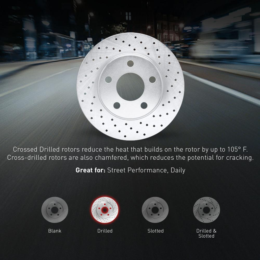 [COMPLETE KIT] eLine Cross-Drilled Brake Rotors & Ceramic Brake Pads CEX.6607702