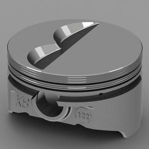 KB PERFORMANCE PISTONS 4.030 in Bore Small Block Chevy Piston 8 pc P/N KB122.030