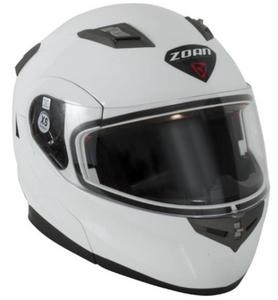 Zoan Flux 4.1 Solid Snow Helmet with Electric Shield (White, X-Small)