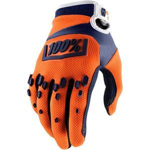 100% Airmatic Gloves Orange/Navy (Orange, XX-Large)