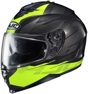 HJC IS-17 Tario Helmet Hi-Viz Yellow (MC-3H) (Yellow, Large)