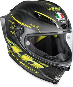 AGV Adult Motorcycle Full Face Pista Carbon Black Helmet Clear Shield L