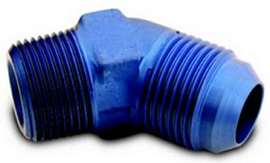 A-1 Products 10 AN Male to 1/2 in NPT Male Aluminum 45 Degree Fitting P/N 82310