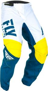 Fly Racing F-16 Youth Pants Yellow/White/Navy (Yellow, 22)