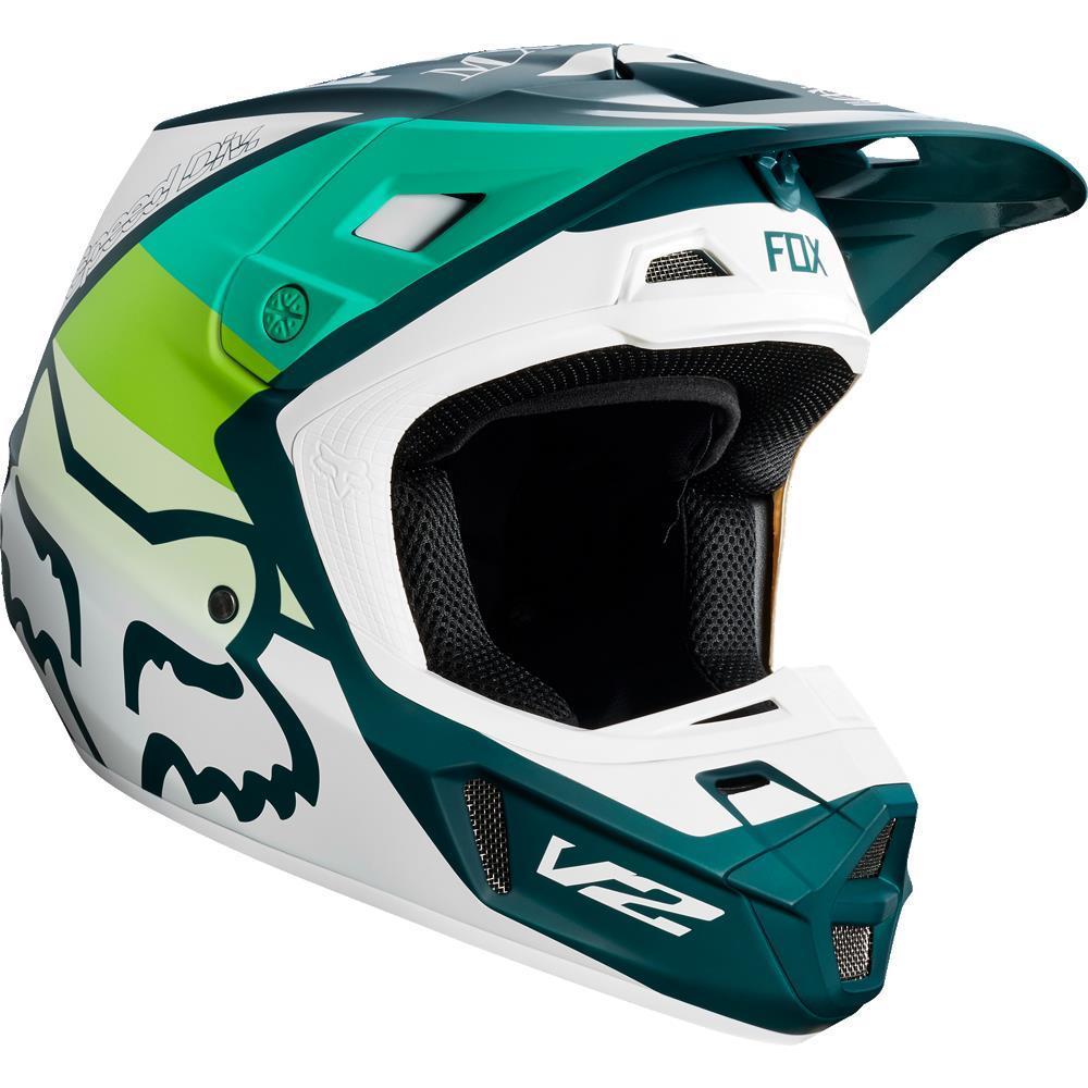 Fox V2 Murc Helmet (Green, Large)