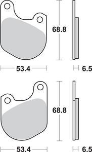 SBS Dual Carbon Organic Front or Rear Brake Pads 537H.HF