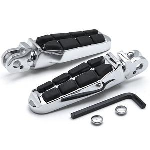 Krator Tombstone Motorcycle Foot Peg Footrests Chrome L&R For Triumph Rocket III All Front