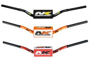 "Neken Handlebars 1 1/8"" Motorcycle MX 85cc Low Bend Orange"