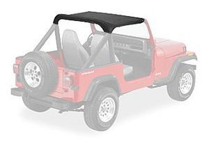 Bestop Strapless Bikini Top 87-91 Jeep Wrangler YJ Black Crush 52509-01