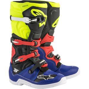 Alpinestars Tech 5 Boots Blue/Black/Yellow (Yellow, 6)
