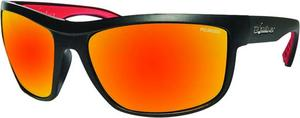 Bomber Hub Bomb Polarized Floating Sunglasses Matte Black / Red Mirror Lens (Black, OSFM)