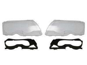 99-03 BMW E46 2DR / 01-06 M3 REPLACEMENT HEADLIGHT LENSES + BLACK INNER FRAMES