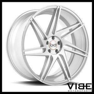 "20"" BLAQUE DIAMOND BD1 SILVER CONCAVE WHEELS RIMS FITS BMW F32 428i 435i COUPE"