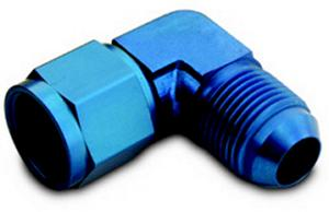 A-1 Products 10 AN Male to 10 AN Female Swivel Alum 90 Degree Fitting P/N CPL910