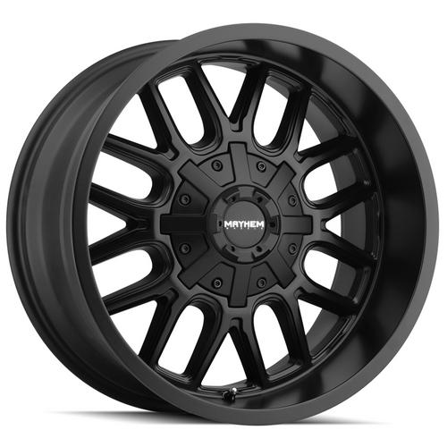"4-Mayhem 8107 Cogent 20x10 8x6.5""/8x170 -19mm Matte Black Wheels Rims 20"" Inch"