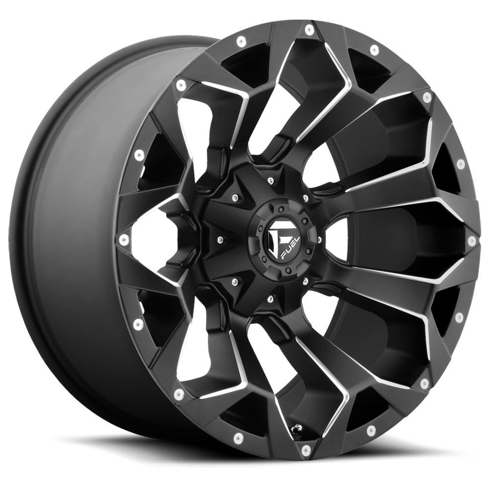 """Fuel D546 Assault 18x9 6x135/6x5.5"""" -13mm Black/Milled Wheel Rim 18"""" Inch"""