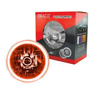 Oracle Lighting Tech Amber Halo LED Ring Sealed Beam Headlight P/N 6905-005