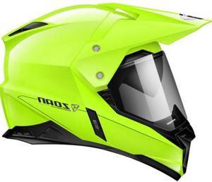 Zoan Synchrony Duo-Sport Solid Snow Helmet with Double Lens Shield Hi-Vis Yellow (Yellow, XX-Large)