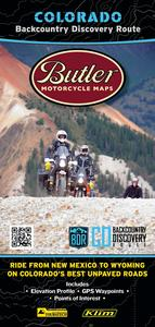 Butler Maps COBDR Backcountry Discovery Routes Map - Colorado