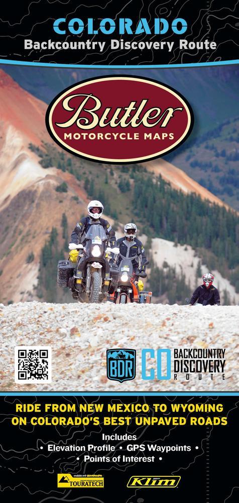 Butler Maps COBDR Backcountry Discovery Routes Map - Colorado