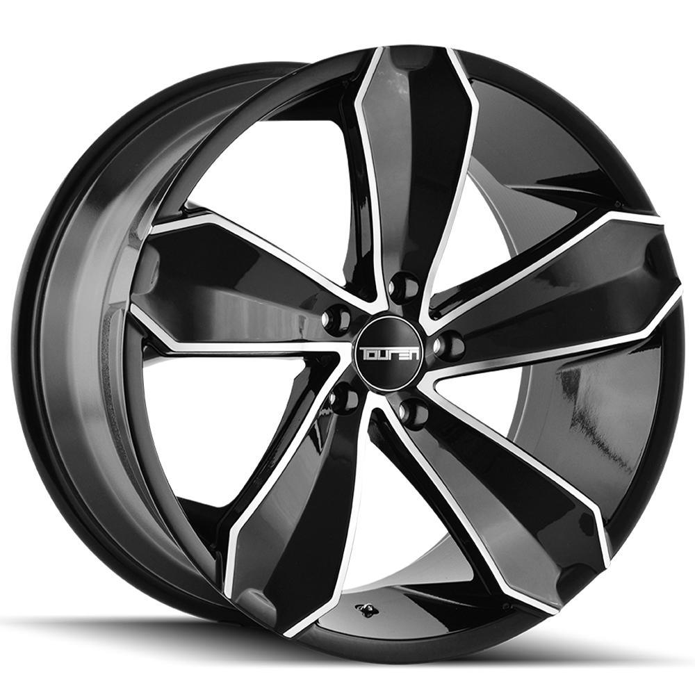 """Touren TR71 20x10 5x120 +20mm Black/Machined Wheel Rim 20"""" Inch"""