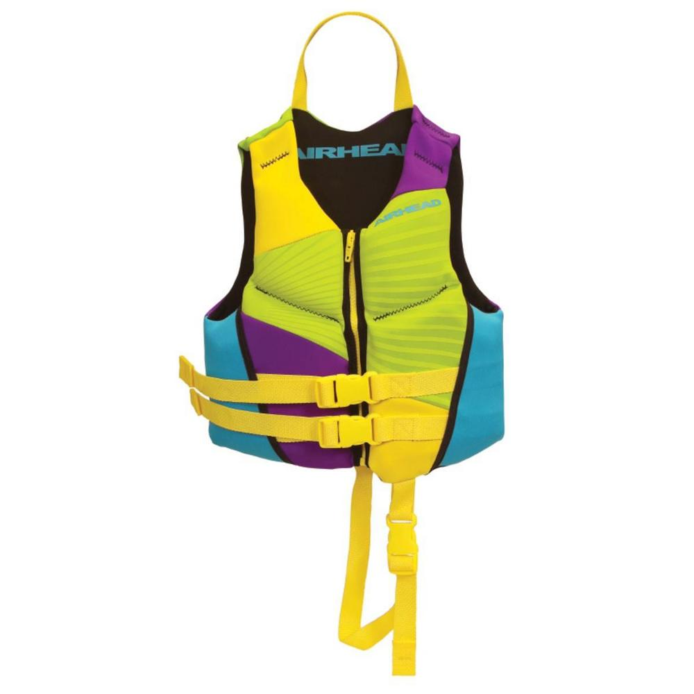 Kwik Tek Gnar Neolite Kwik-Dry Child Life Vest Multi-Color (Yellow, OSFM)