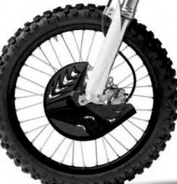 Polisport Black Front Disc Brake Guard W/ Mount For KTM Husqvarna 8151500001