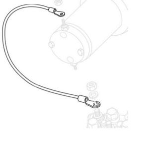 Warn 69652 Cable for 3.0ci/4.0ci Winch Motor Connections - 6Ga. - Blue - 96in.